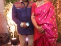 Saikumar-and-his-wife-at--Srija-Wedding-Reception