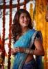 shruti-haasan-stills-in-blue-saree