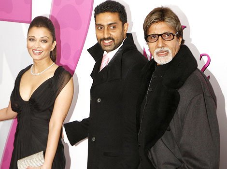 Abhishek Bachchan with Aishwarya and Amitabh