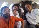Pawan Kalyan Rare Photo in Flight