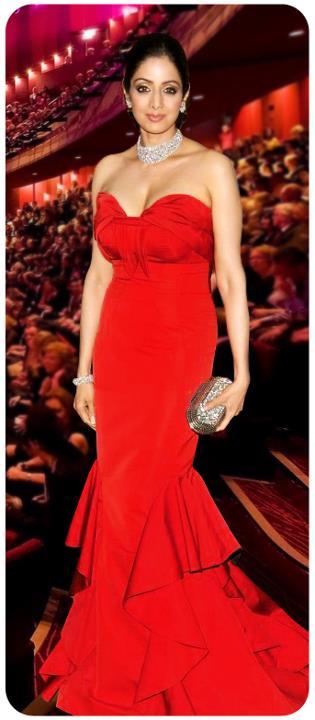 Sridevi in Red Dress