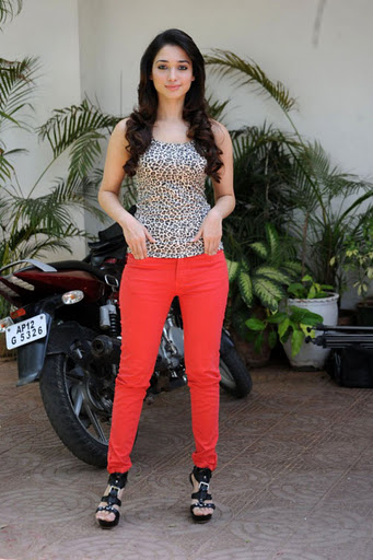 Tamannah in Red Jeans