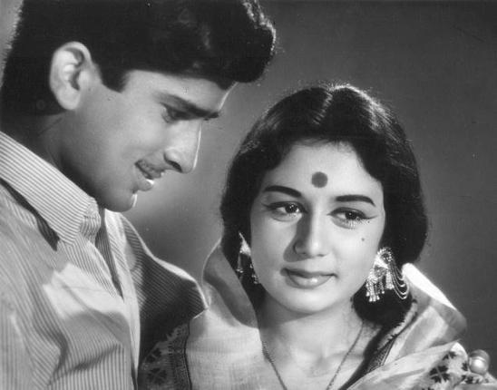Nanda with Shashi kapoor