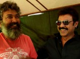 Venkatesh on Baahubali Sets