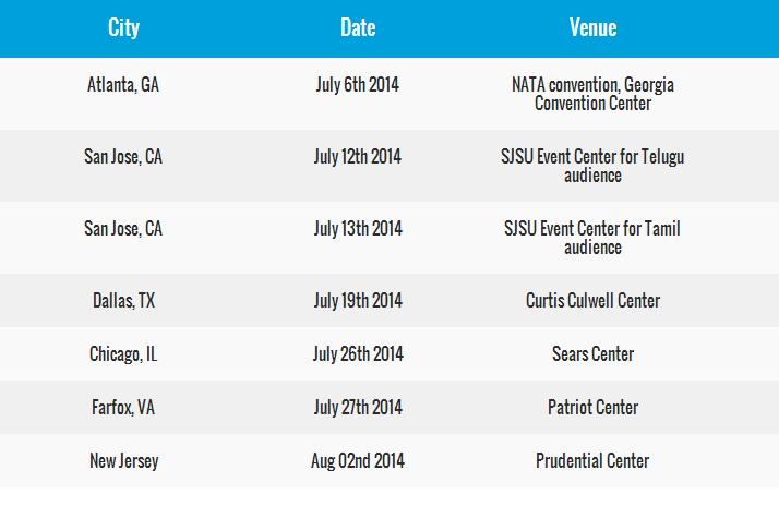 DSP concert schedule