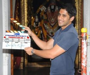 Naga-Chaitanya-Claps-His-New-Movie-Opening-Photos