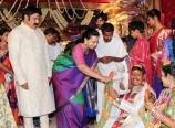 Balakrishna-Vasundhara-at-Nandamuri-Mohana-Krishna-Daughter-Wedding