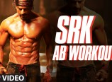 Shah Rukh Khan Practise for 6 Pack Body at HNY Sets