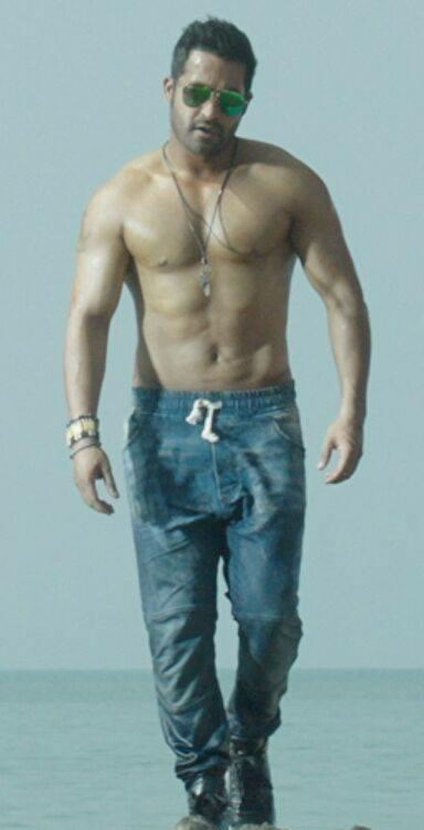 NTR Six Pack Abs in Temper
