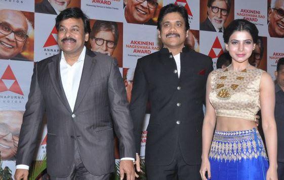 Nagarjuna Samantha and Chiranjeevi