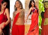Actress Hot in Red Saree Photos