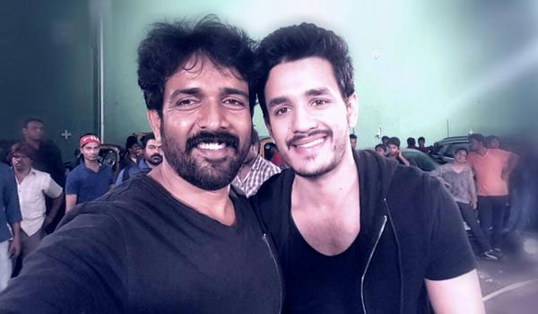 Akhil and Stunt Master Ravi Verma