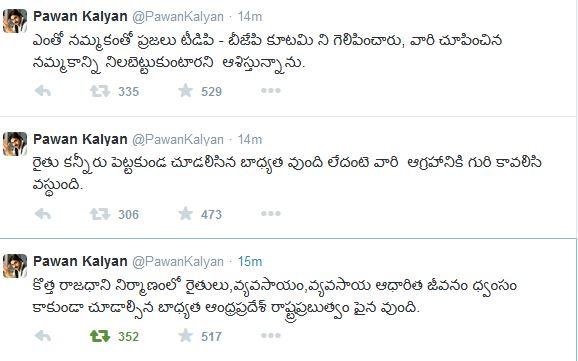 Pawan Kalyan Tweets