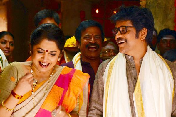 Nagarjuna Laughing with Ramyakrishna