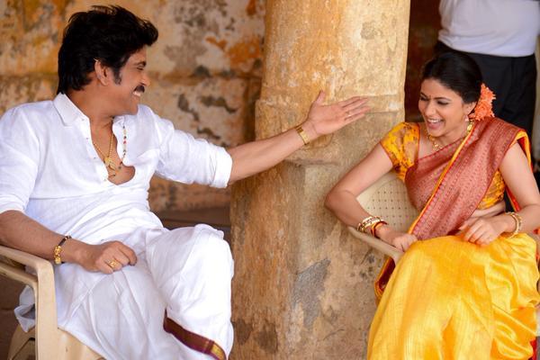 Nagarjuna Laughing with Lavanya