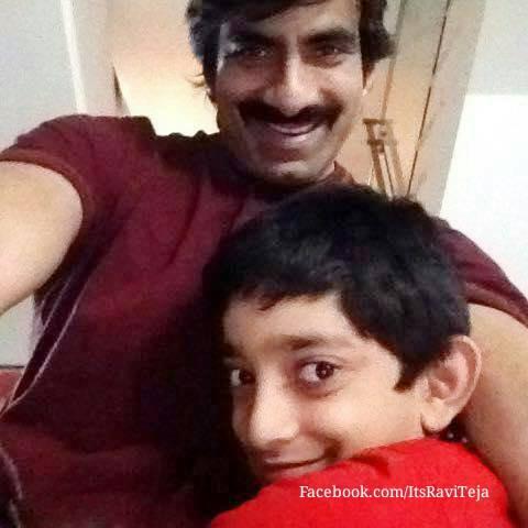 Raviteja with his son Mahadhan
