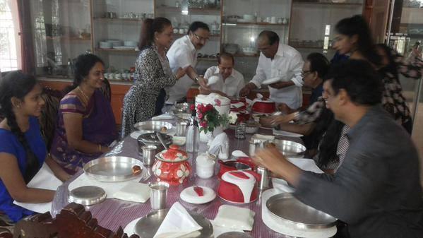 Krishnam Raju Lunch with Krishna
