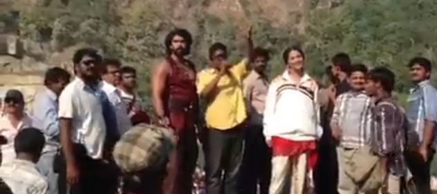 Rudhramadevi Shooting Spot Video
