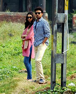 Deepika and Irrfan in Piku