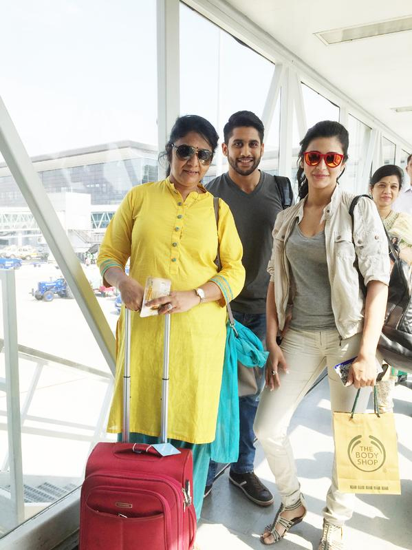 Naga Chaitanya and Shruti Hassan Caught at Airport