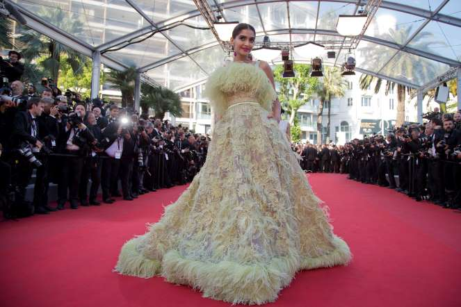 Sonam on Red Carpet at 2015 Cannes