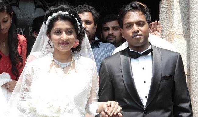Meera Jasmine with her Husband