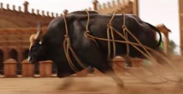 Baahubali Bull Scene