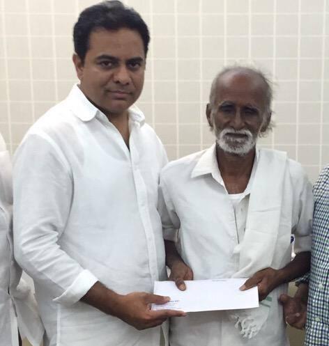 KTR Helps Vedam Nagaiah