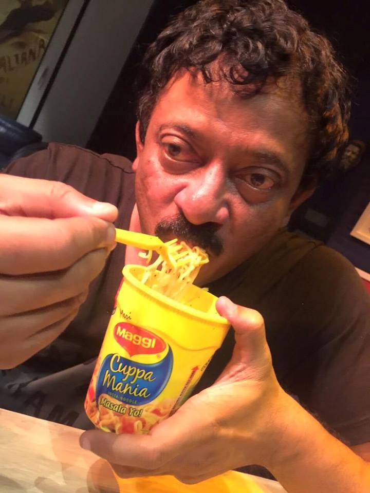 RGV eating Maggie Noodles