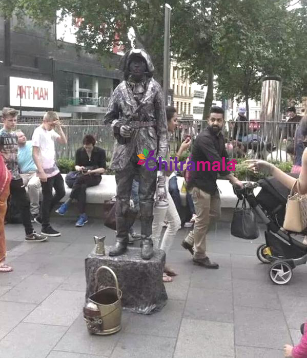 Jr NTR Caught Roaming with Son & Wife in London