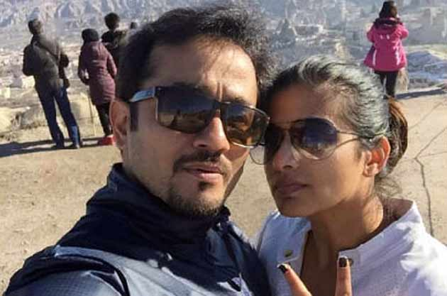 Priyamani with her boyfriend Mustafa Raj