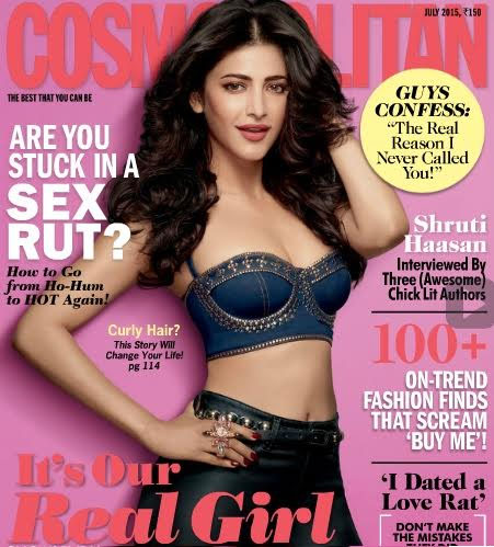 Shruti Hassan Hot Pose for Cosmopolitan Magazine