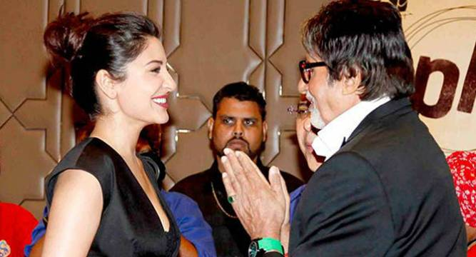 Amitabh Bachchan Warns Anushka Sharma on Twitter