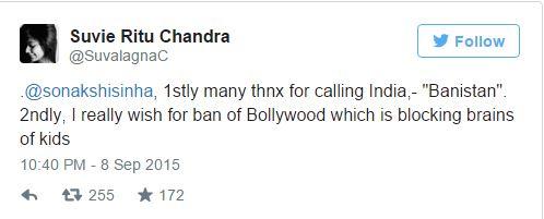 Activist replies to sonakshi