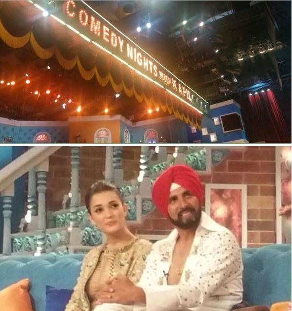 Akshay Kumar and Amy Jackson on the sets of CNWK