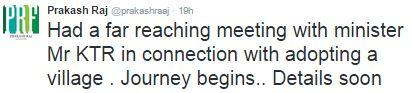 Praksh Raj Tweets about Village adoption