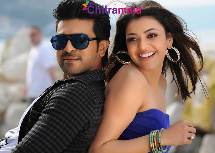 Ram Charan and Kajal in Thani Oruvan
