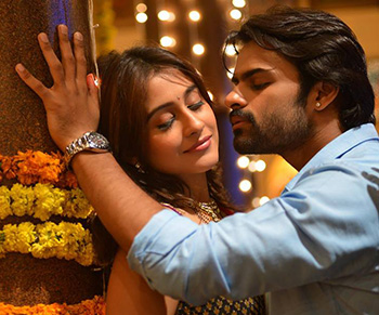 Sai Dharam Tej and Regina Cassandra Romantic Still in Subramanyam For Sale
