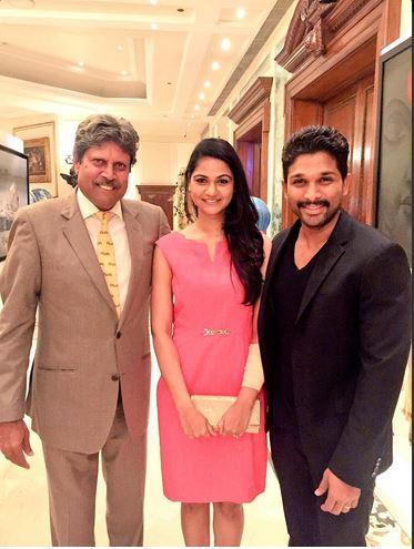Allu Arjun meets Kapil Dev