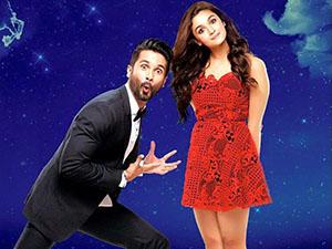Shahid Kapoor and Alia Bhatt in Shaandaar