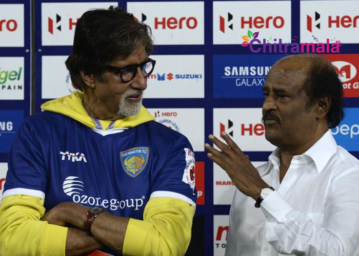 Rajinikanth and Amitabh Bachchan in Robot 2