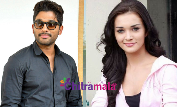 Amy Jackson with Allu Arjun