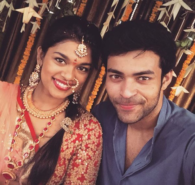 Varun Tej with his sister Srija