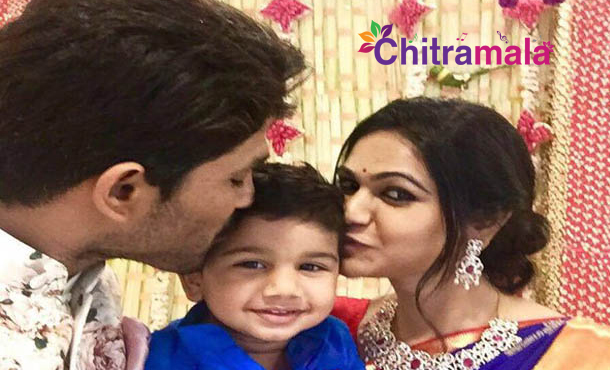 Allu Arjun Son Ayaan and Sneha