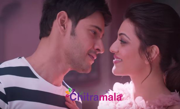 Kajal and Mahesh Babu in Brahmotsavam