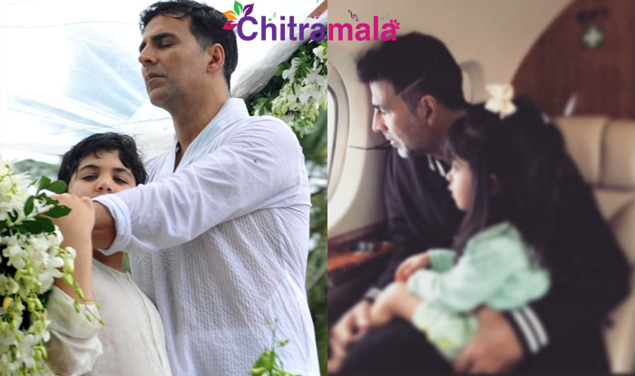 Akshay Kumar with his kids