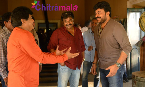 Chiranjeevi Look from 150 movie sets