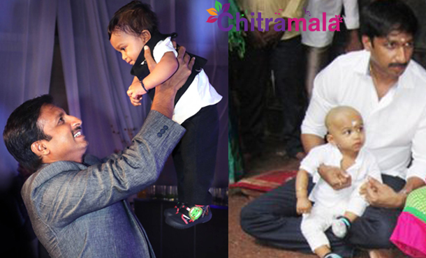 Gopichand with his son