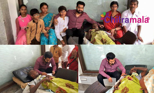 Jr NTR Meets Cancer Patients