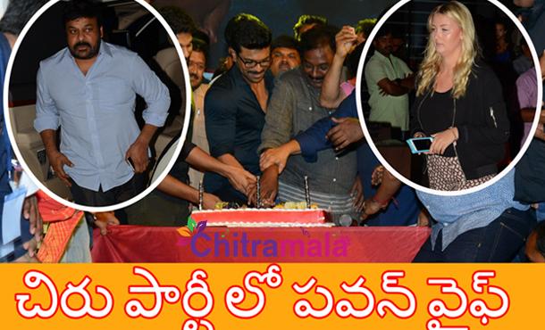 Pawan Kalyan Wife in Chiru Birthday Party